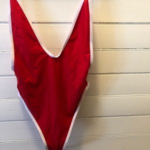Red bathing suit, straight out of bay watch